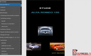 Alfa Romeo 156 Worshop Manual Etude