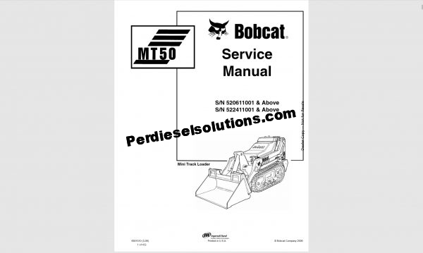 Bobcat Service Manual-operator manual & wiring diagram