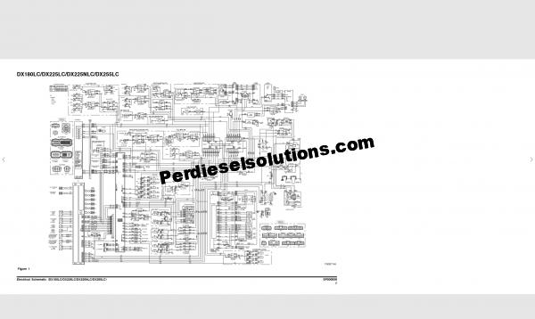 Doosan DX255LC electrical system