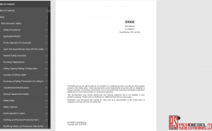 Doosan Mini Excavator DX30Z Shop manual