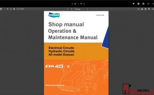 Doosan shop manual and service manual