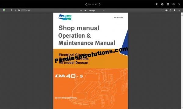 Doosan shop manual and service manual