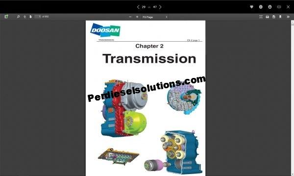 Doosan shop manual, service manual and wiring diagram all models full pdf