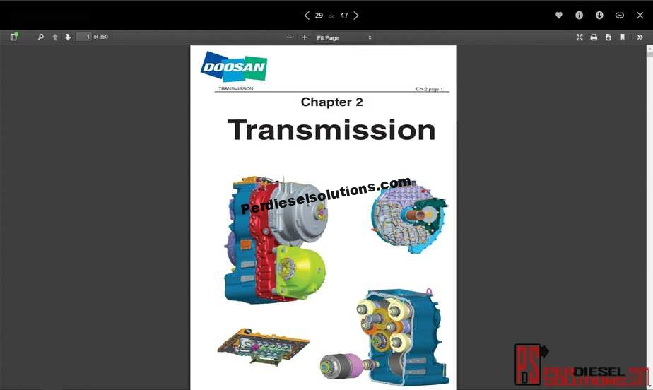 Doosan Shop Manual  U0026 Wiring Diagram Full Set All Models