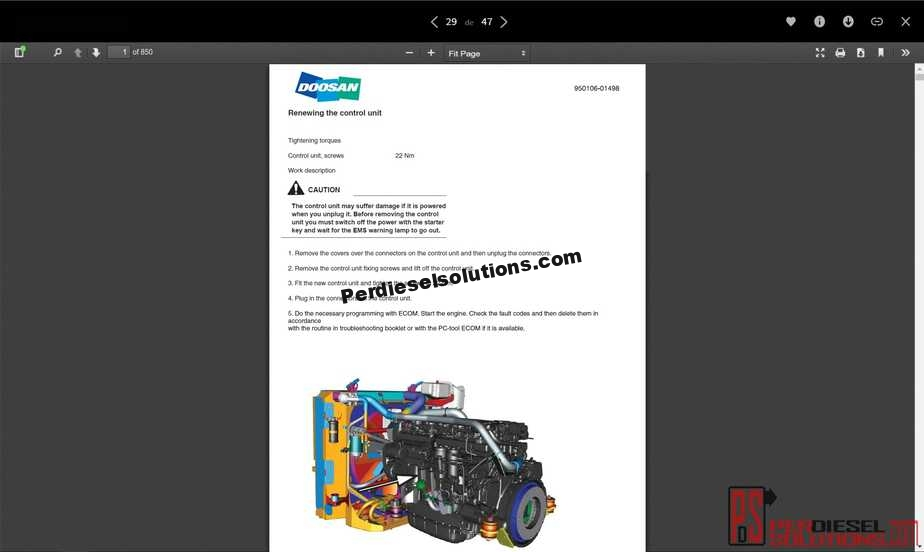 Doosan Shop Manual  U0026 Maintenance Manual Complete Pdf