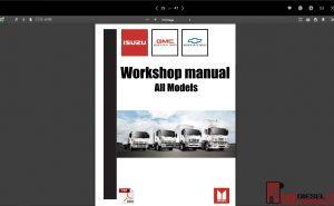 Isuzu WorkShop Manual all models