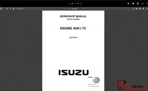 Isuzu WorkShop & service Manual all models