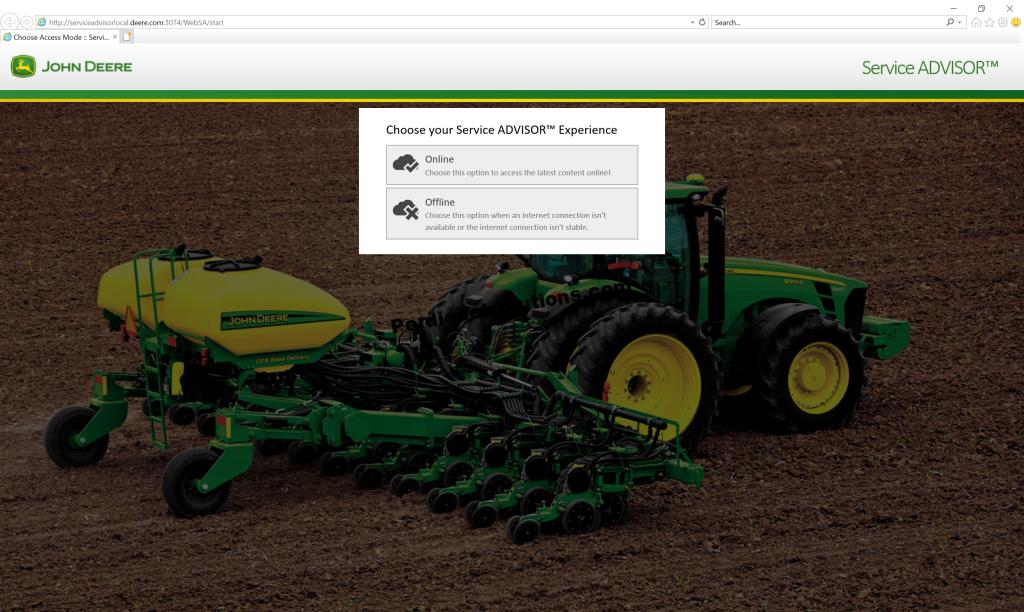 John Deere Service Advisor 5 2 Agriculture Equipment Offline -  PerDieselSolutions