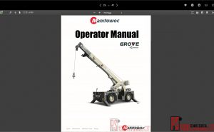Manitowoc Grove Full operator manual