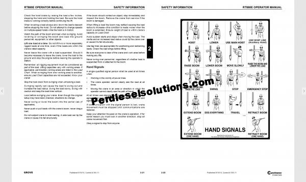 Manitowoc Grove operator manual complete