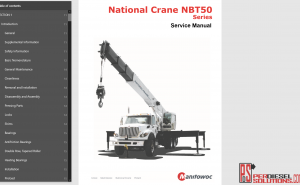 Manitowoc International Crane Service ManualManitowoc International Crane Service Manual