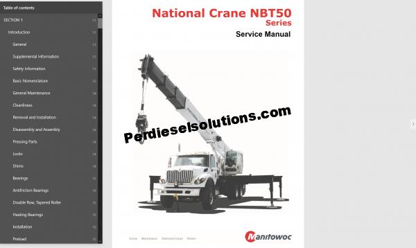 Manitowoc International Crane Service ManualManitowoc International Crane Service Manual