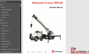 Manitowoc National Crane Full operator Manual 2018