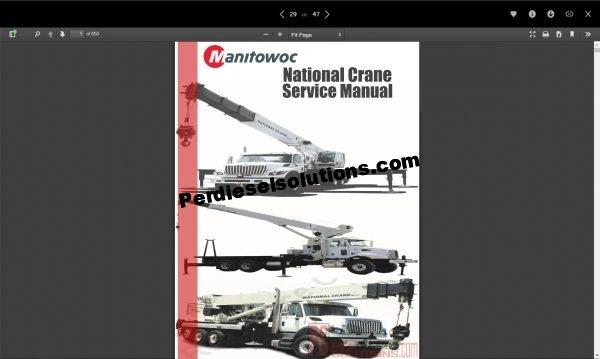 Manitowoc National Service Manual pdf