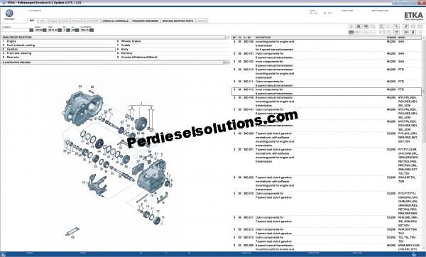 Parts catalog ETKA 2019