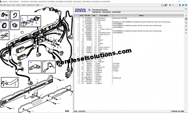 Volvo Penta 02.2019 Spare parts Catalog