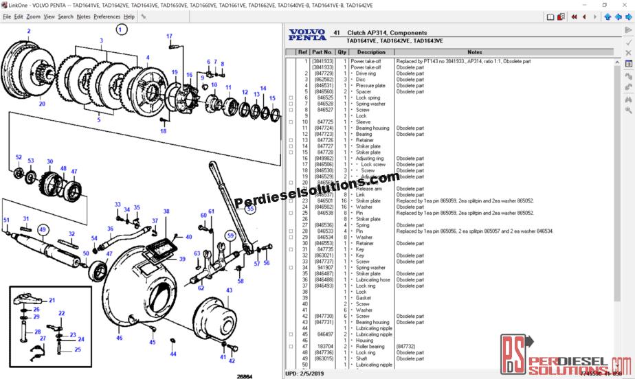 Volvo Penta 57 Gi Parts Diagram