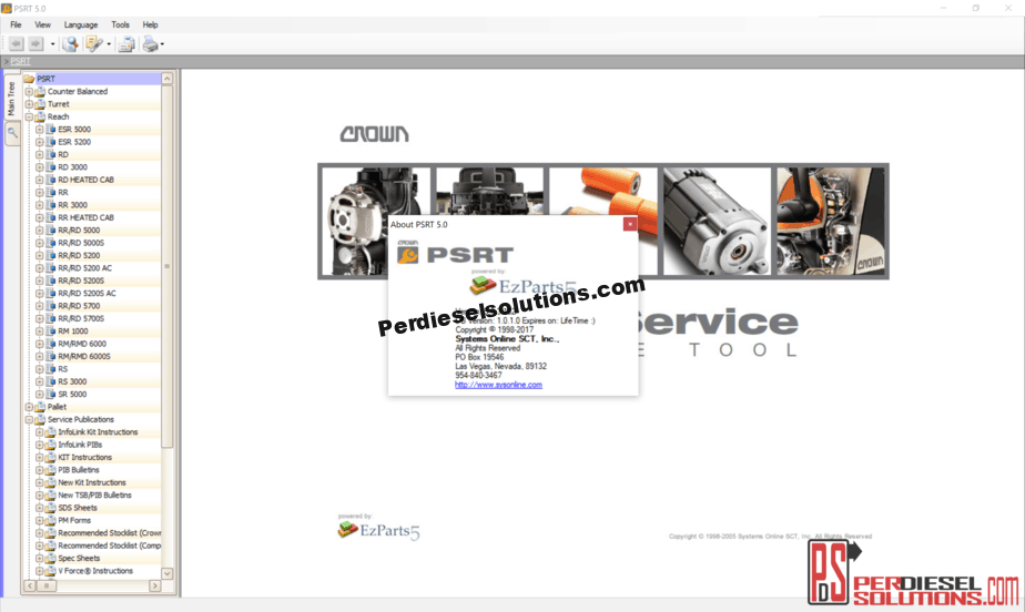 Crown Forklift Trucks PSRT [02 2019] Parts & Service Resource Tool