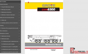 Grove Crane Worshop Manual PDF