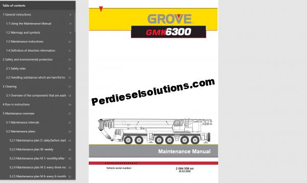 Grove Crane Worshop Manual PDF
