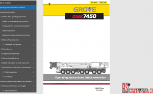 Grove Mobile Crane GMK full shop manual pdf