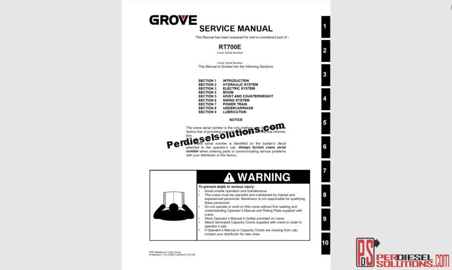 Grove Crane Workshop Manual Complete PDF on