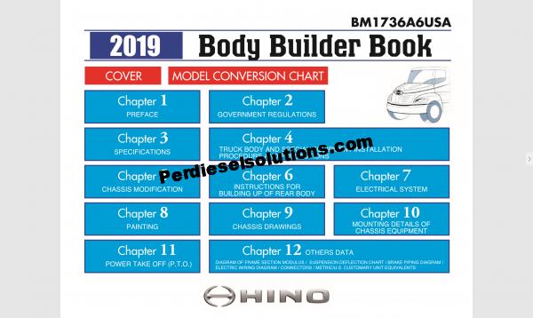 Hino Trucks worshop manual 2019 full pdf