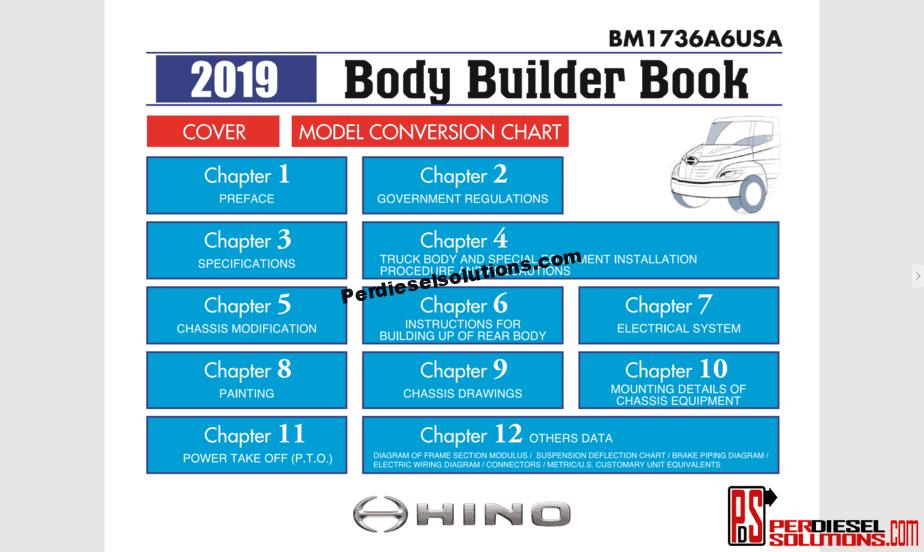 Hino Trucks Complete Set 2001-2019 Workshop Manual PDF