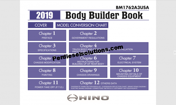 Hino workshop manual 2019