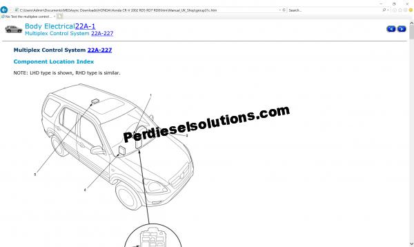 Honda Workshop manual and wiring diagram