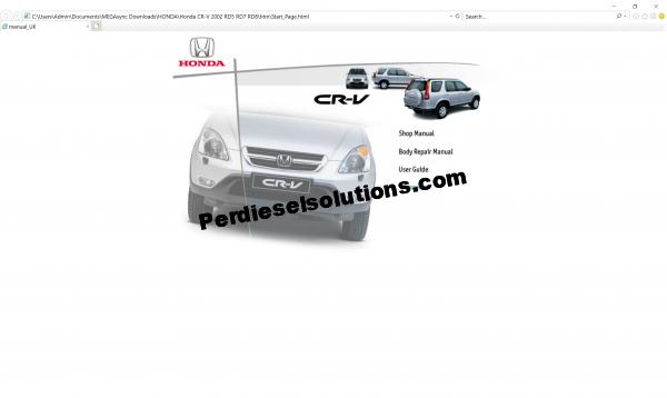 Honda Workshop manual full pdf