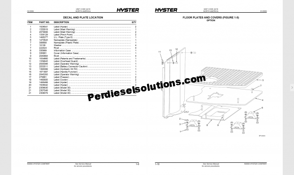 Hyster forklift trucks parts manual pdf