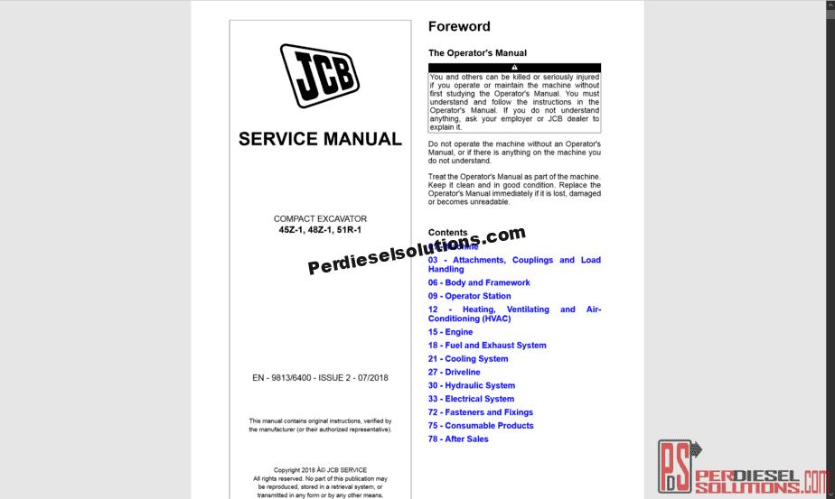 jcb telehandler 550 service manual