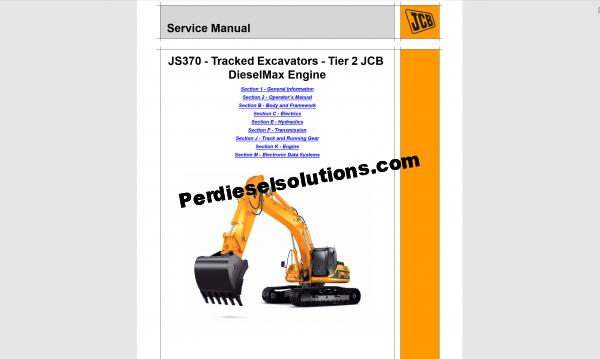 JCB repair manual 2019 new models