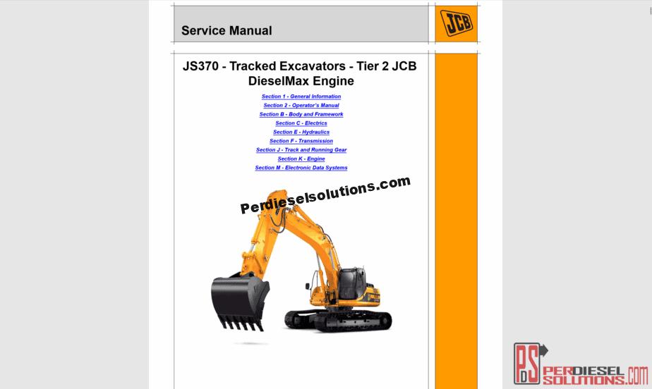 service manual jcb 8052