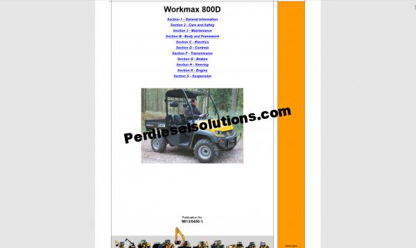 JCB service Manual 2019 new models