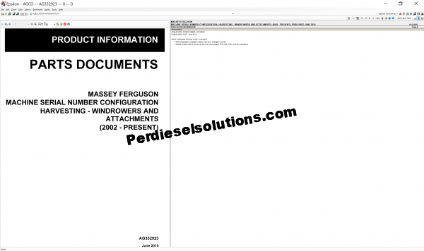 Massey Ferguson Parts Document 07.2019