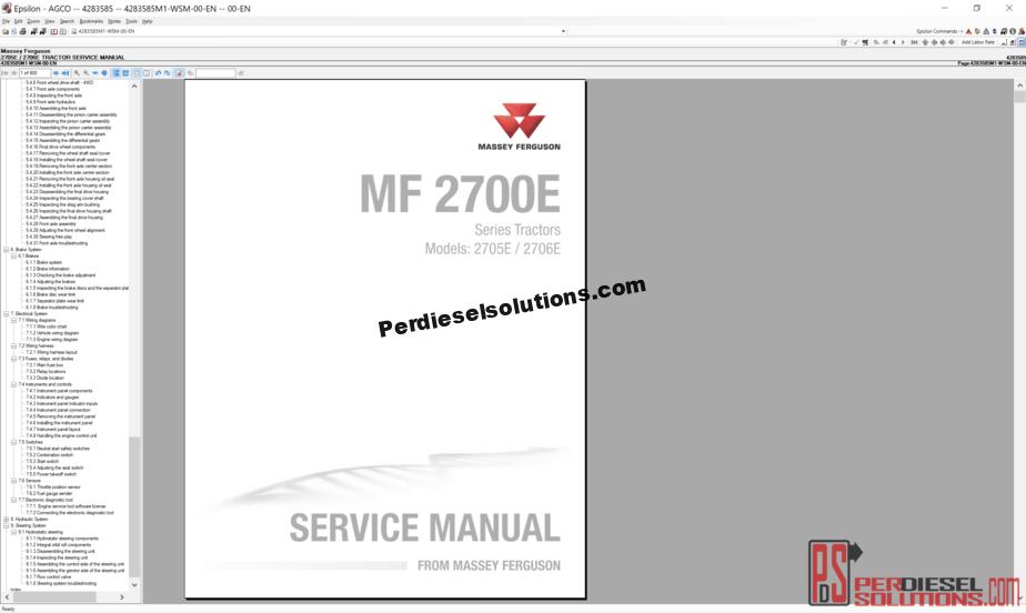 Agco Massey Ferguson NA [07 2019] Part Books & Workshop Service Manuals
