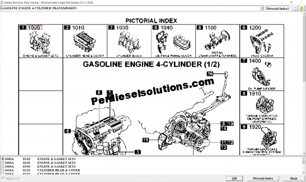 Mazda EPC II General Spare Parts Catalog
