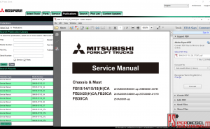 Mitsubishi forklift trucks 03.2019 spare parts catalog and service manual