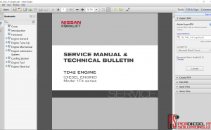 Nissan forklift manual & technical bulletin