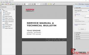 Nissan forklift manual & technical bulletin