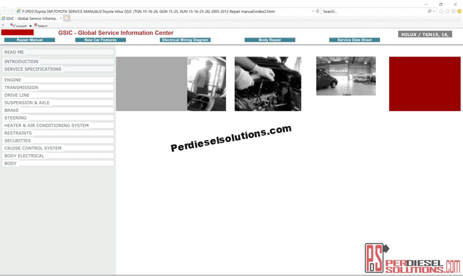 Toyota Cars Full Package Service Repair Manual & Diagrams