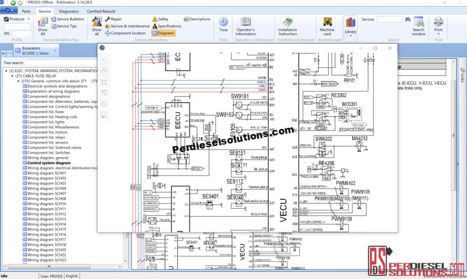 volvo prosis [01.2019] spare parts catalog & repair manual -  perdieselsolutions  perdieselsolutions