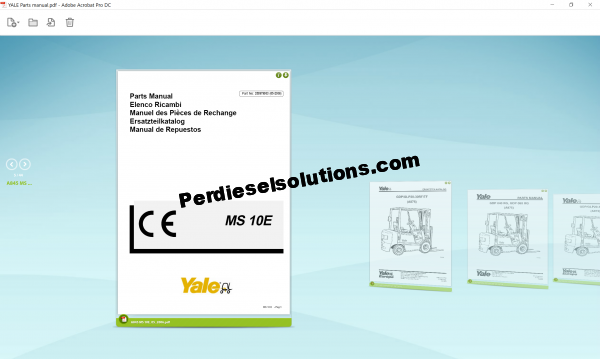Yale forklift parts book pdf