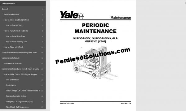 Yale forklift trucks 06.2019 complete set