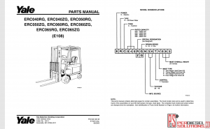 Yale forklift trucks complete set parts book