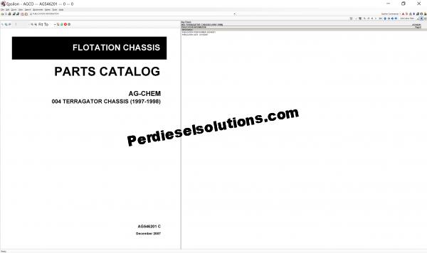 Ag-Chem 07.2019 Parts Books & Workshop manual