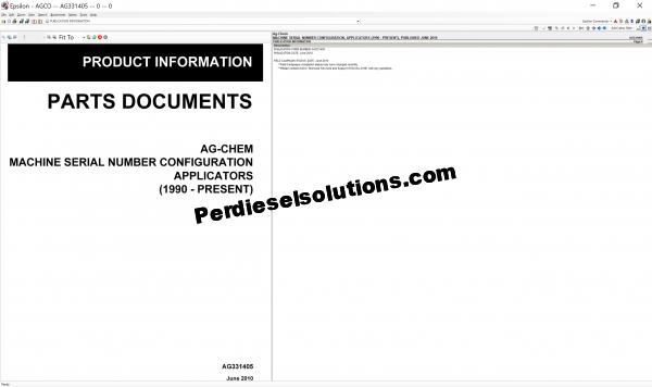 Ag-Chem Parts Catalog & Service Bulletins
