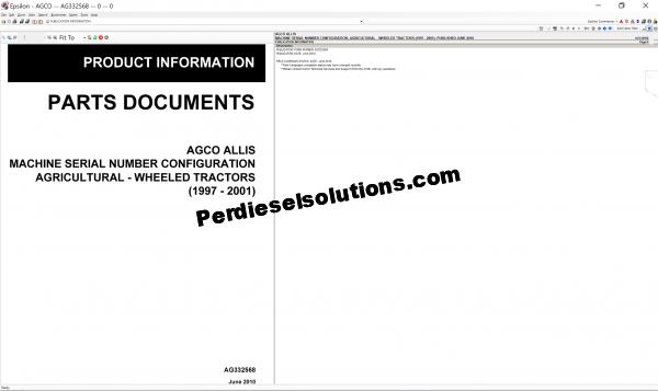 Agco Allis NA 2019 parts books & Workshop service manuals
